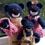 Вяжем крючком семейство медведей