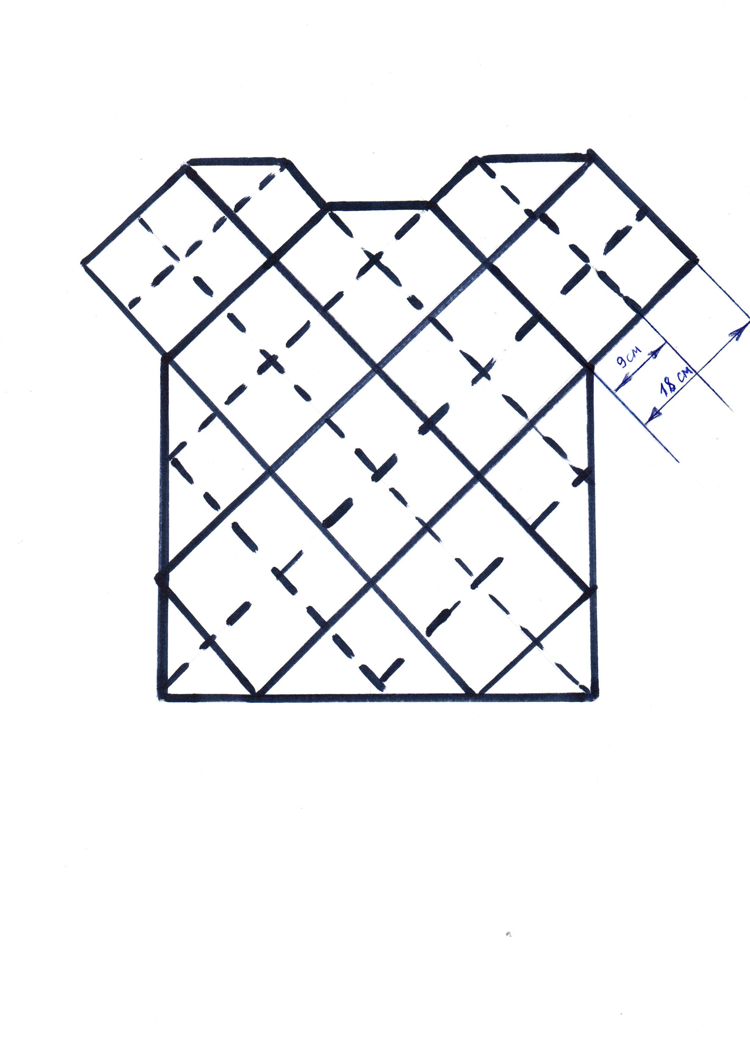 Как связать зайца из квадрата